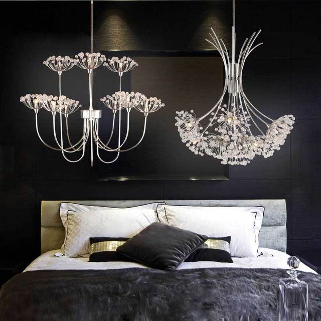 Románticas modernas Luces Colgantes de Cristal LED Fixture para ...