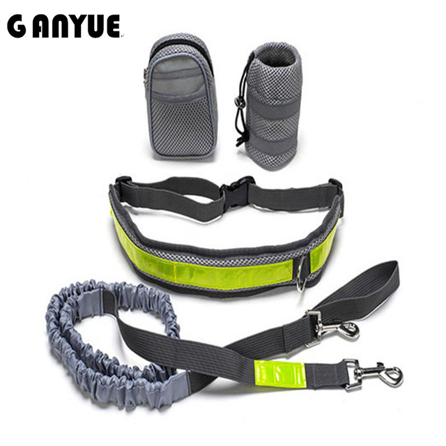 Ganyue Elastico In Vita Cintura Guinzaglio Del Cane Correre Jogging Collare Dell
