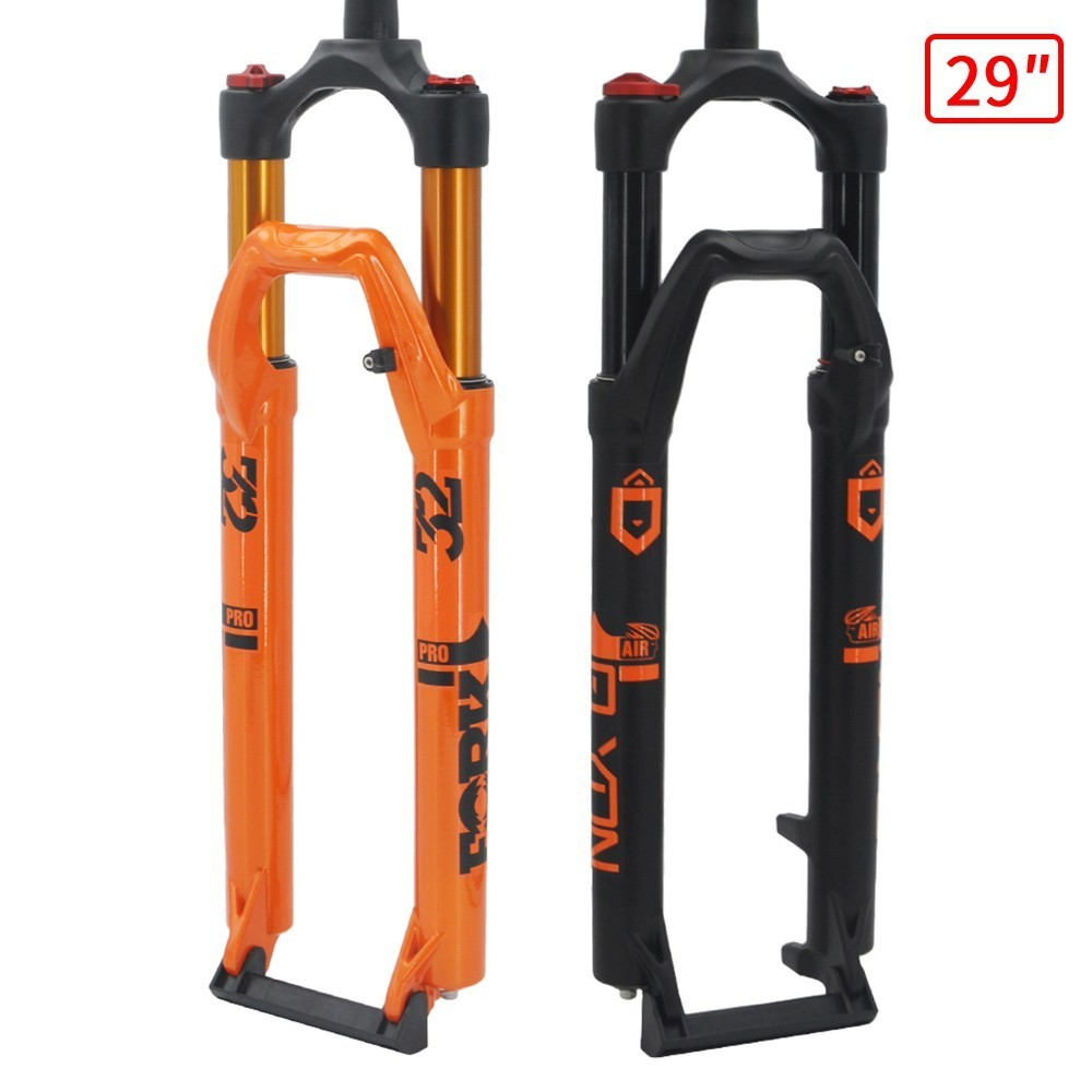 <font><b>27.5</b></font>/29 Inch Air <font><b>Suspension</b></font> Bike Fork Magnesium Alloy Mountain <font><b>MTB</b></font> Bicycle Air Fork Axle 15x100mm Bicycle Fork image