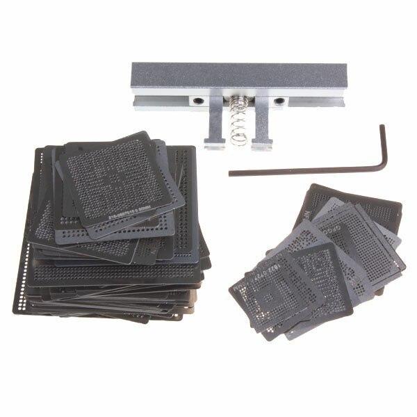 459pcs Directly Heat Stencils Template Set with BGA Reballing Jig Clamp Station Kit For SMT Chip Rework Repair latest laptop xbox ps3 bga 170pcs template bga kit 90mm for chip reballing