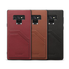 NeWisdom official original for samsung Galaxy Note 9 case  leather With Card Pocket cases Retro Vintage Back shell Protective