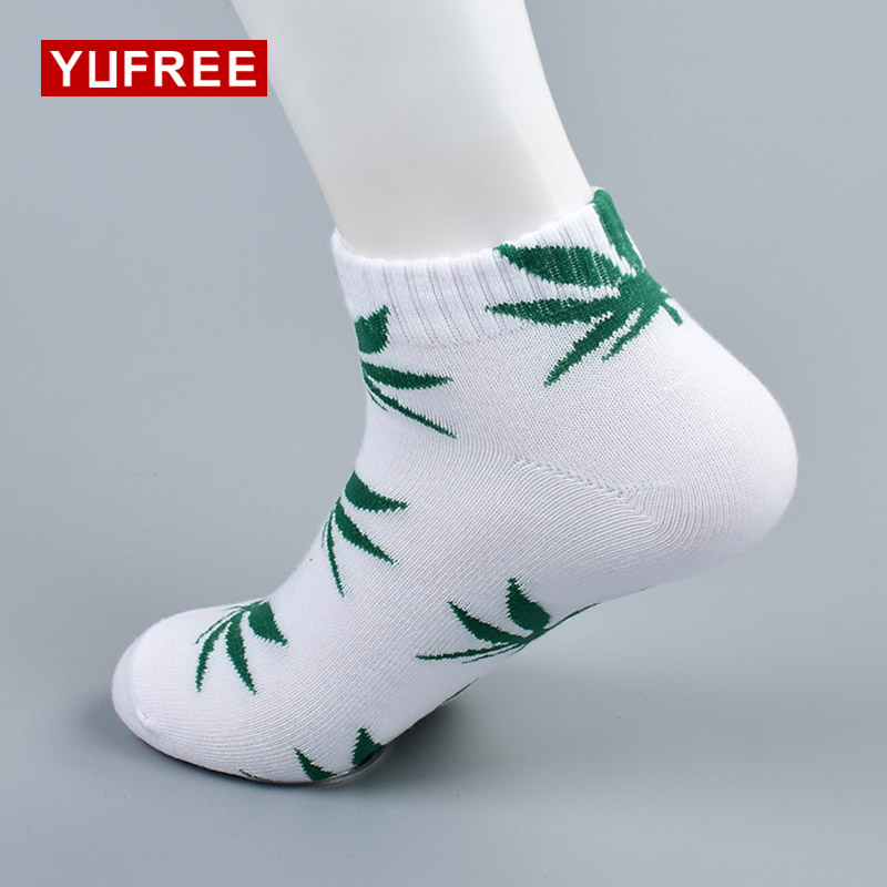 YUFREE Men Socks Famous Weed Socks for Men Women Spring Summer Autumn Cotton Casual Short Fashion Weed Socks Men male065 ...