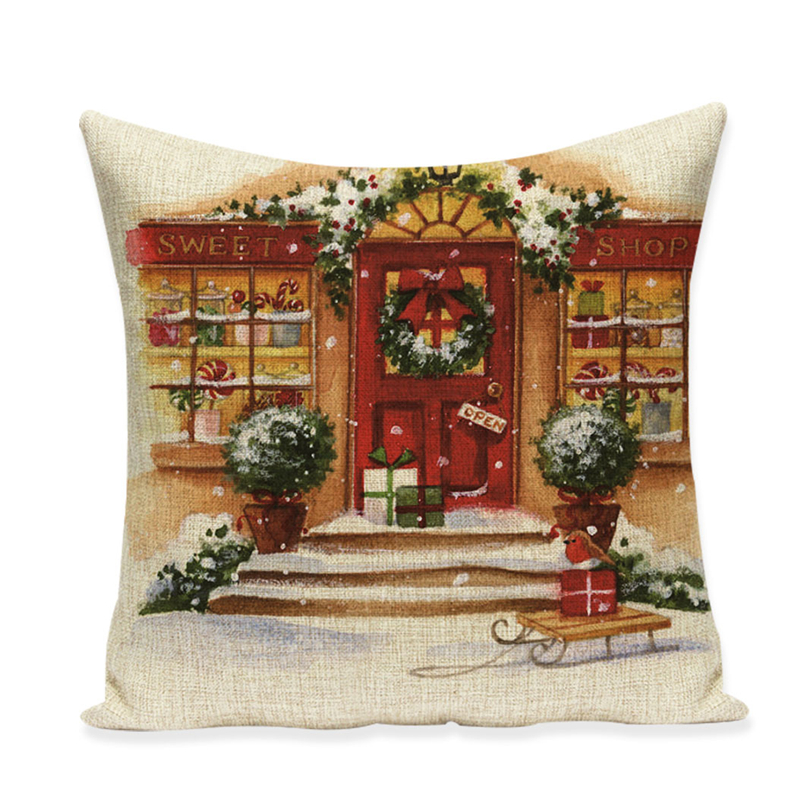 Ziemassvētku spilvenu pārvalka dīvāns augstas kvalitātes - Mājas tekstils - Foto 6