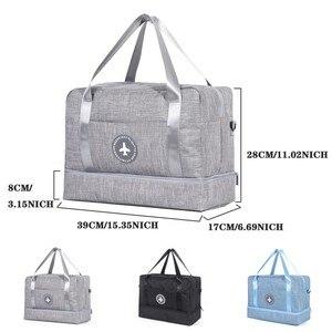 Image 2 - Sac de rangement imperméable, sac de natation sec et humide, sac à chaussures de plage, sac de rangement de voyage vêtements de toilette organisateur de Fitness