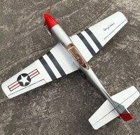 Rc طائرة الليزر قطع خشب البلسا طائرة كيت p51 مع 4CC نيترو rc نموذج محرك الشحن المجاني بناء عدة