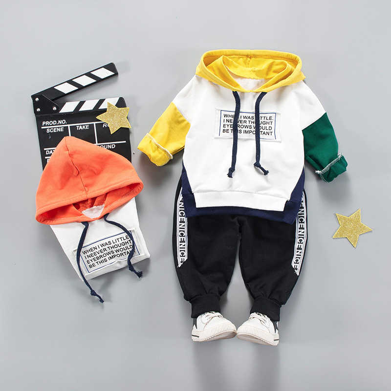Anak Pakaian Set 2019 Musim Gugur Musim Dingin Bayi Anak Laki-laki Bertudung + Celana Balita Gadis Pakaian Anak-anak Pakaian Anak Laki-laki 1 2 3 4 Tahun