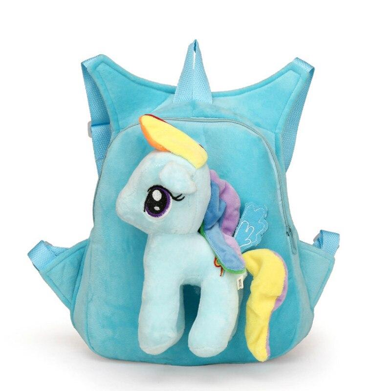 Cute-Soft-Cartoon-Kindergarten-Children-Plush-Backpack-Pony-Plush-Toy-Preschool-Baby-Bag-Gift-for-Kids-1-5-Years-Old-1pc-2