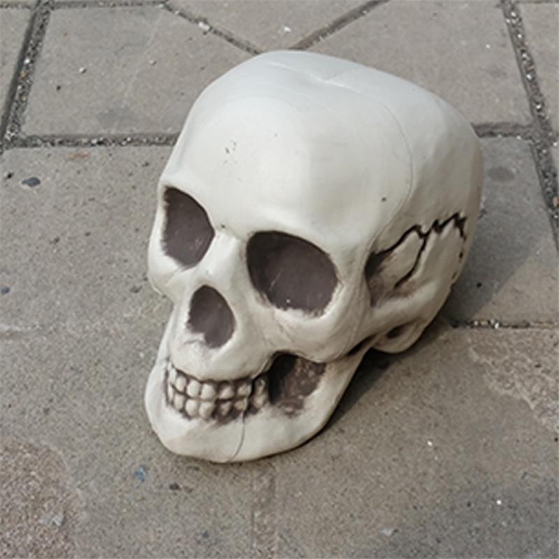 halloween skeleton skull halloween skull bones life size120 skull haunted house escape horror props decorations - Halloween Skull Decorations