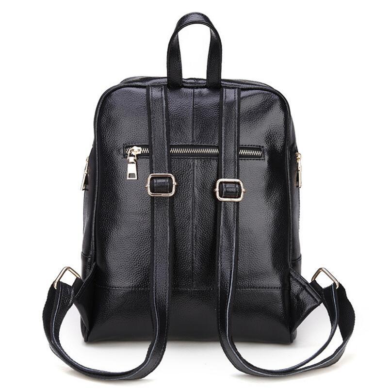 Genuine Leather Backpack Women Backpacks Soft Leather Female School Bags For Girls Hot Fashion Women Backpack Taravel Bag #4