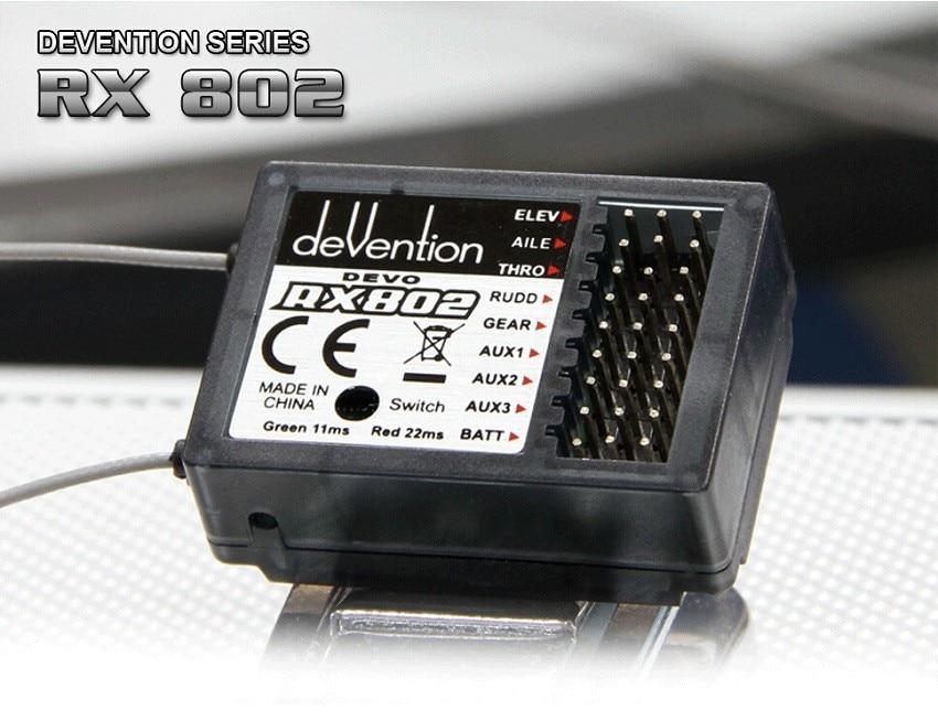 Walkera RX802 2.4Ghz 8 Channel Receiver for Walkers DEVO 6S/7/7E/8S/10 Transmitter Origina Walkera product Free Shipping original walkera devention receiver rx1002 2 4ghz 10 channel 10ch for devo10 tx compatible with devo 7 7e 8s 12s