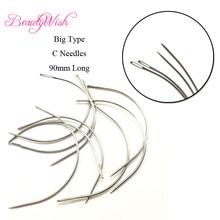 12 шт C Стиль ткацкая игла для волос утка 90 mmBig изогнутые иглы для волос трек Уток Weave Швейные
