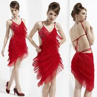 Girls Dance Costume American Flag Dress Competition Latin Dance Clothes Latin Costumes Sequined DS Costumes Performing