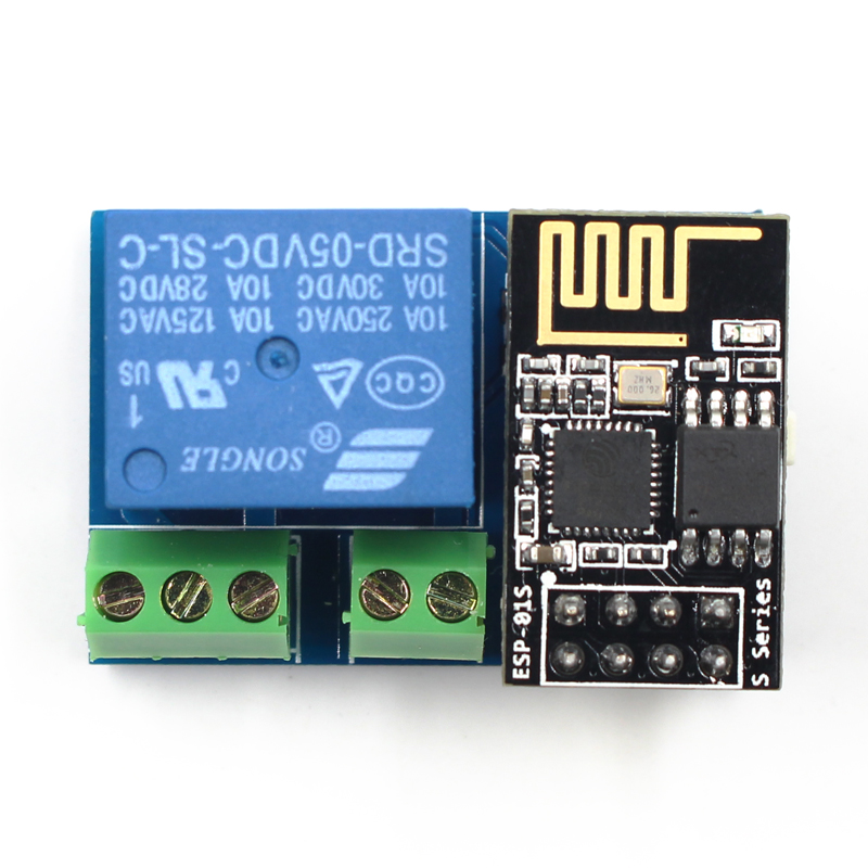 Elecrow esp8266 esp-01s relay module 5 minutes iot project diy kit wifi/  internet controlled relays remote switch phone app