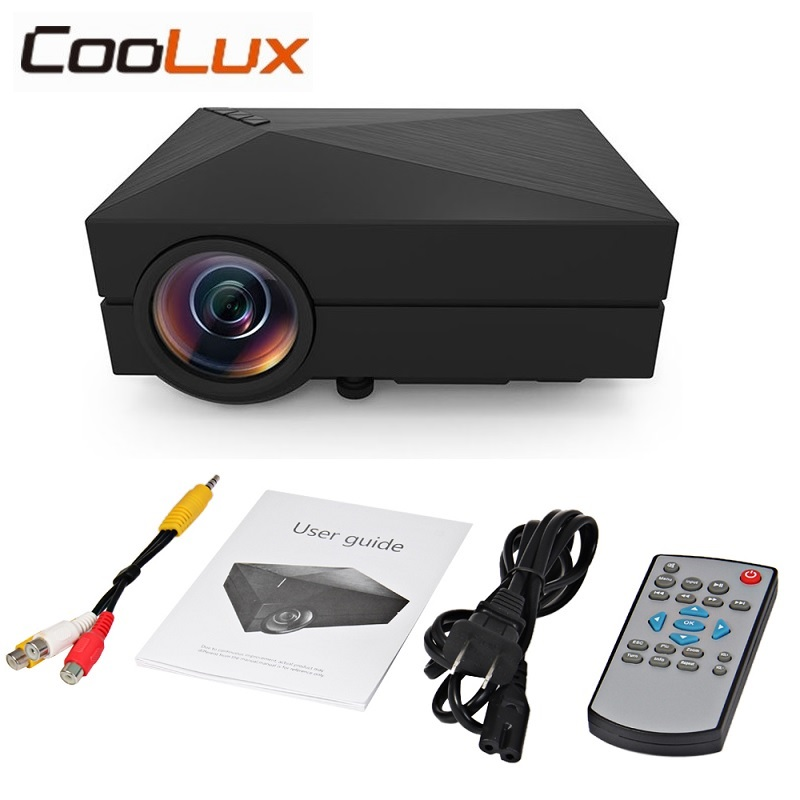 Coolux Pocket GM60 Mini Projector 1000Lm 800 x 480 Pixels Supports 1080P HD Projection for Home Theater Cinema LCD LED Projector 2016 new lcd mini projector max 1080p led home theater entertainment system digital video projection unit portable white black