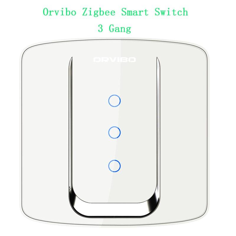 imágenes para Orvibo zigbee interruptores de pared de vidrio de cine en casa inteligente interruptor táctil interruptor de control remoto inalámbrico de control de red con zigbee mini hub