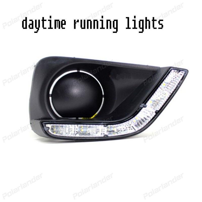 2 pcs car styling For T/oyota V/ios 2014-2015 led drl fog lamps brightness daytime running light
