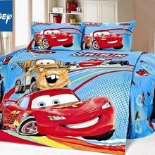 Дисней Маккуин тачки одеяло постельные принадлежности набор один размер для мальчиков кровать Декор Твин одеяло покрывала плоский лист 3/4 шт скидка горячая распродажа