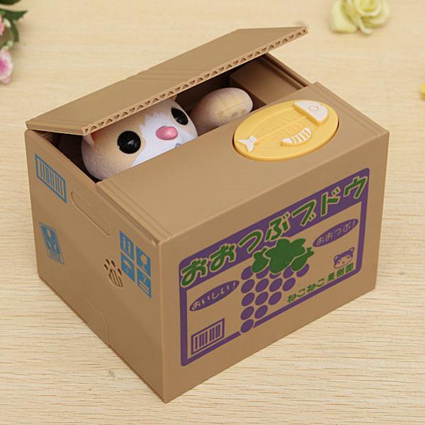 Venda quente moda encantador engraçado novidade animais de aço Piggy Bank caixa de poupança Cent para presente decoração