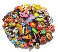 100pcs/lot mixed styles random shoe accessories shoe charms , shoe decoration fit croc and wrisband for children gift