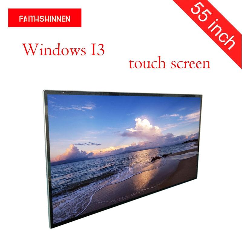 Écran tactile de kiosque numérique d'affichage à cristaux liquides d'affichage de totem d'écran d'affichage de publicité de 55 pouces Windows I3