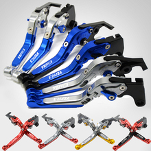 For Yamaha YZF R3 r3 R25 r 25 2015 2016 2017 YZFR3 CNC Adjustable Brake Clutch Levers Motorcycle Accessories Motobike brake adjustable short brake clutch levers yzfr3 for yamaha yzf r3 yzf r3 2015 red blue new style blue logo free shipping motorcycle