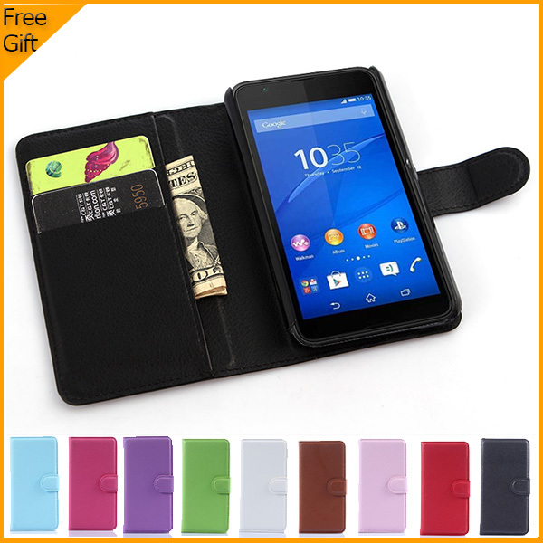 Luxury Wallet PU կաշվե պատյան Sony Xperia E4g Dual E2033 - Բջջային հեռախոսի պարագաներ և պահեստամասեր - Լուսանկար 1