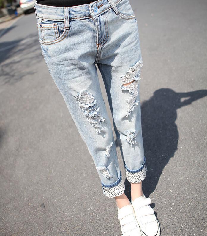 Popular Leopard Ripped Jeans-Buy Cheap Leopard Ripped Jeans lots ...
