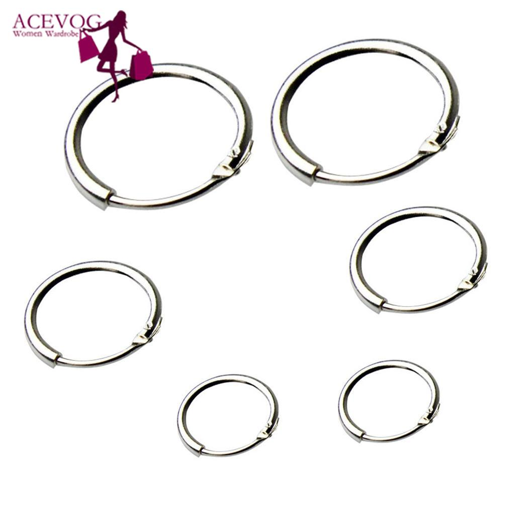 Meaneor New <font><b>3</b></font> Pairs Round <font><b>Earrings</b></font> <font><b>Hoops</b></font> Sleeper Small <font><b>Hoop</b></font> <font><b>Earrings</b></font> 8mm 12mm 10mm Ear Decoration Christmas Gift for Women Girls image