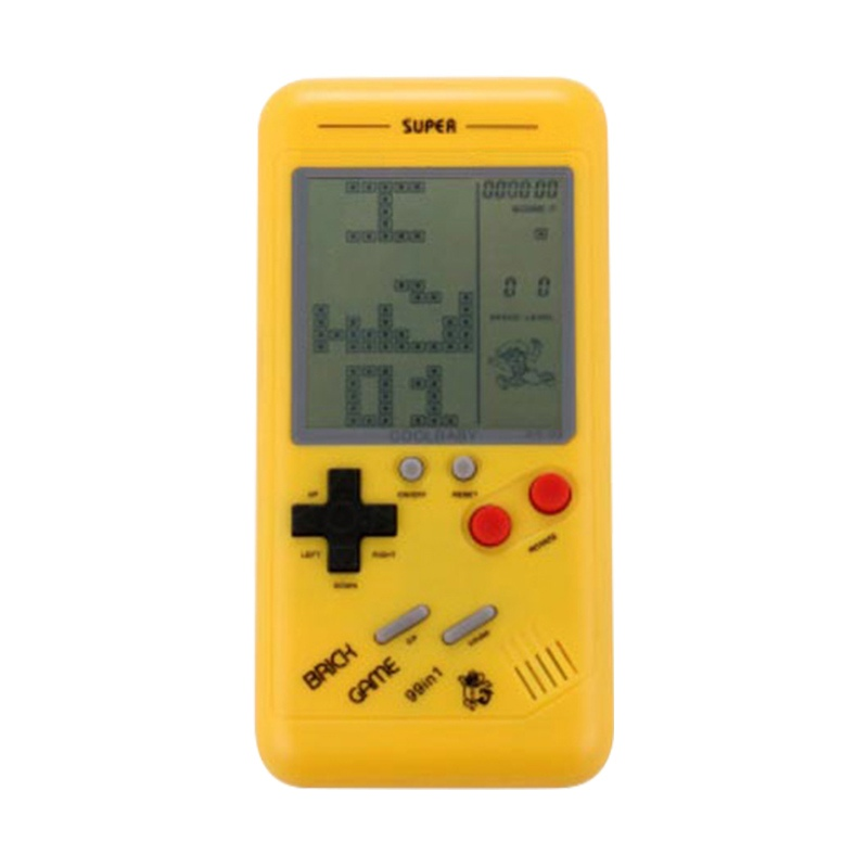 New Classic Tetris Game for Children Students Classic Nostalgia Puzzle Built-in Variety of Games Small Handheld Game Console