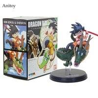 14cm Dragon Ball Z Super Saiyan Goku With Dragon Riding PVC Action Figures Collection Model Toy