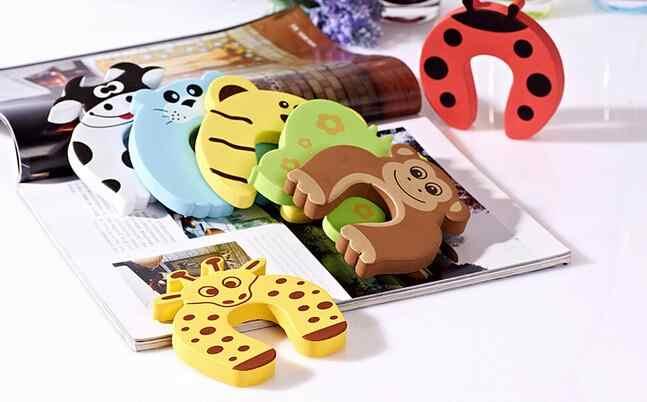 Dễ Thương 1 Cái Trẻ Em Kids Cho Bé Hoạt Hình Hình Máy Gây Nhiễu Ngăn Chặn Cửa Giá Đỡ Khóa An Toàn Bảo Vệ Ngón Tay Bảo Vệ Cửa Dừng Lại