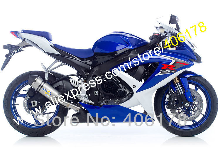 Hot Sales,For <font><b>SUZUKI</b></font> K8 08 09 10 <font><b>GSX</b></font> R600 GSXR750 GSXR <font><b>600</b></font> 750 GSXR600 <font><b>2008</b></font> 2009 2010 Blue White Fairing (Injection molding) image