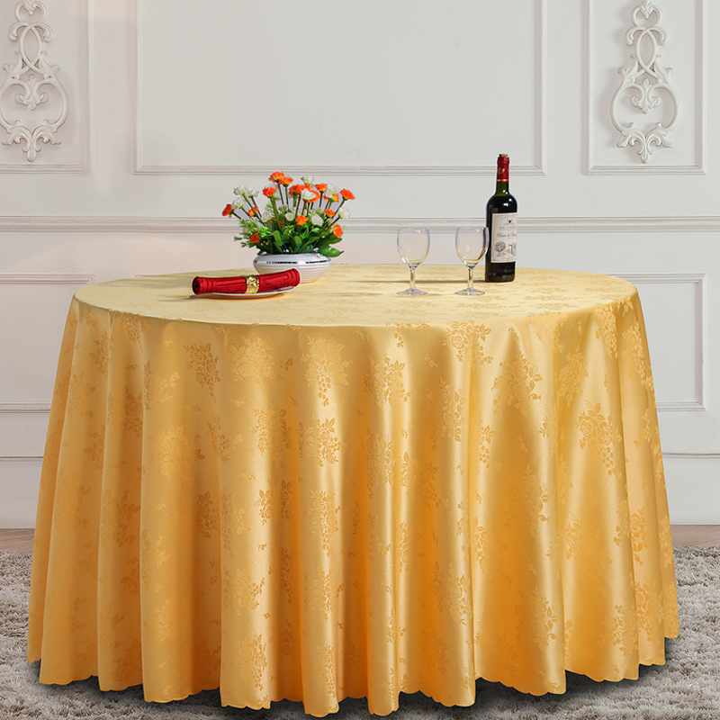 Wliarleo White Tablecloth Round Rectangle Hotel Wedding