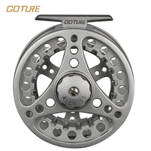 Goture ALC 5/6 7/8 WT Aluminum Frame Spool Fly Fishing Reel Left Right Hand Die Casting Fly Reel Coil Pesca 2+1BB