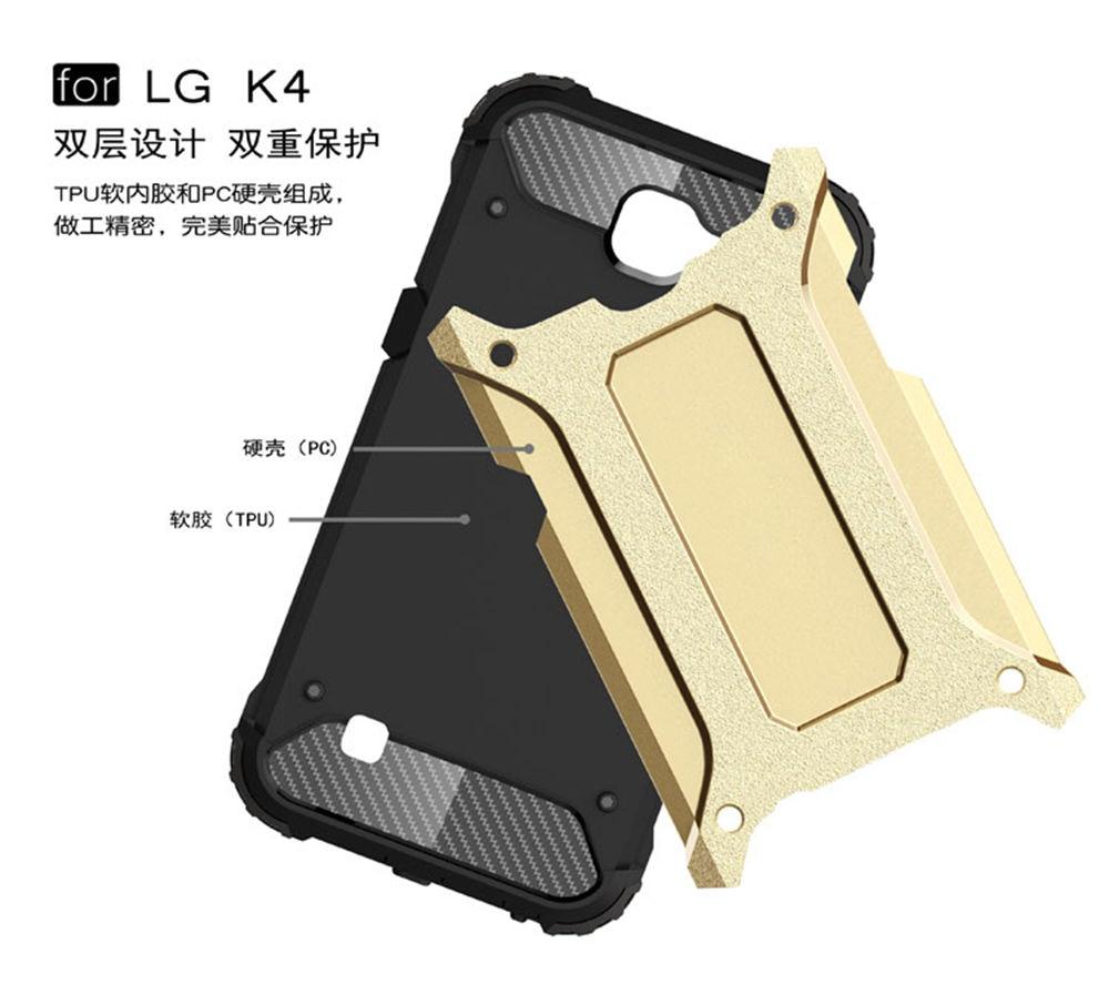 Броня ТПУ чехол для LG K4 LGK4 K130 LG-K130E K130E кремния анти-шок жесткий защиты телефона чехол для LG K 4 К 130 LGK130E случае
