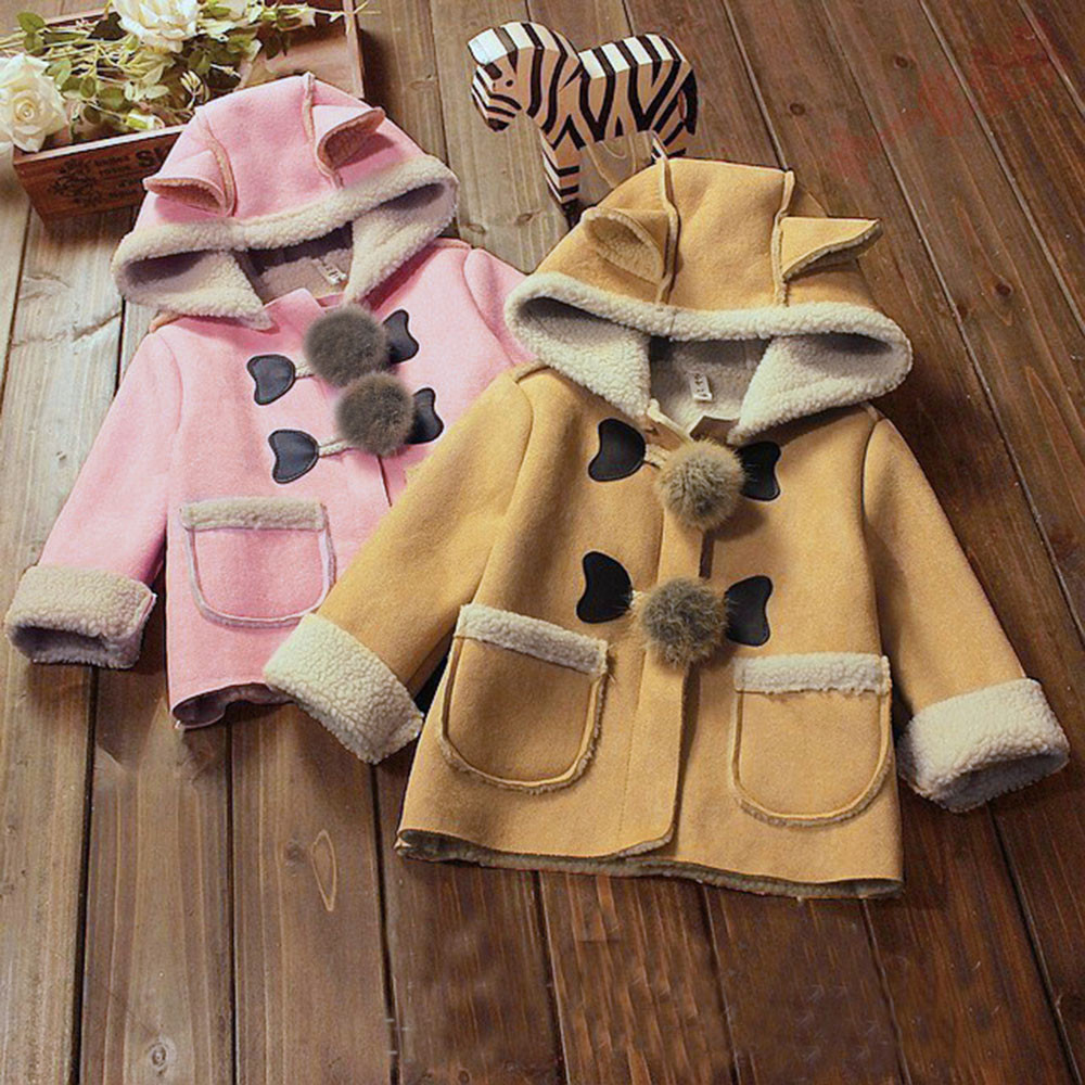 MUQGEW Cute Baby Infant Autumn Winter Hooded Coat Cloak Jacket Thick Warm Clothes jumpsuit baby boy girl clothing hot sale open front geometry pattern batwing winter loose cloak coat poncho cape for women