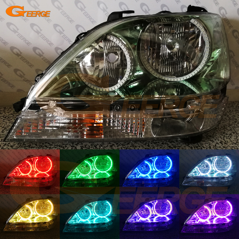 For Toyota Harrier 1997 1998 1999 2000 2001 2002 2003 Excellent Multi-Color Ultra bright illumination RGB LED Angel Eyes kit 1993 1998 toyota supra duraflex vader body kit 5 piece