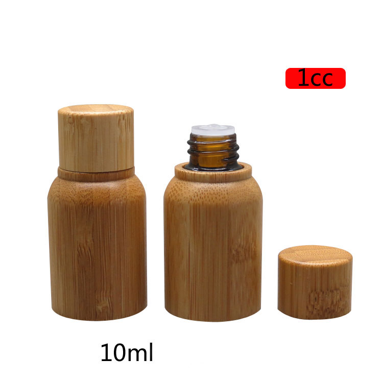 1CC 10ML 10pcs30pcs Safety Bamboo Wooden Medicinal Liquid Bottle DIY High Grade Essential Oil Storage Container