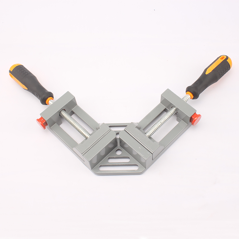 Woodworking Tools Jigs Double Handle 90 Degree Right Angle Clips Quick Corner Clamps ninth world new single handlealuminum 90 degree right angle clamp angle clamp woodworking frame clip right angle folder tool