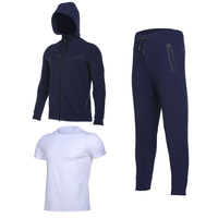 New Autumn Winter Three Pieces Of Men S Sports Sets Cotton Jackets And Pants Running Training