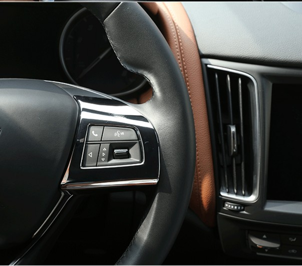 цена на ABS Chrome Car Steering Wheel Button Decoration Stickers covers car-styling For Maserati Levante Ghibli Quattroporte Accessories