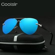 2017 New Coolsir Brand Design Vintage Retro Metal Frameless Polarized Sunglasses Men/women Fashion Luxury Eyewear Gafas De Sol
