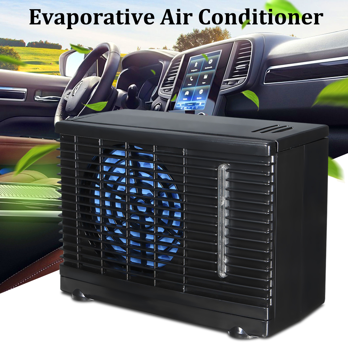 Portable Mini Car Air Conditioner Home Car Cooler Cooling Fan Water Ice Evaporative Car Air Conditioner 12/24V for samsung galaxy tab s 10 5 inch tablet t800 t805 2 in 1 removable wireless bluetooth abs keyboard leather stand case cover