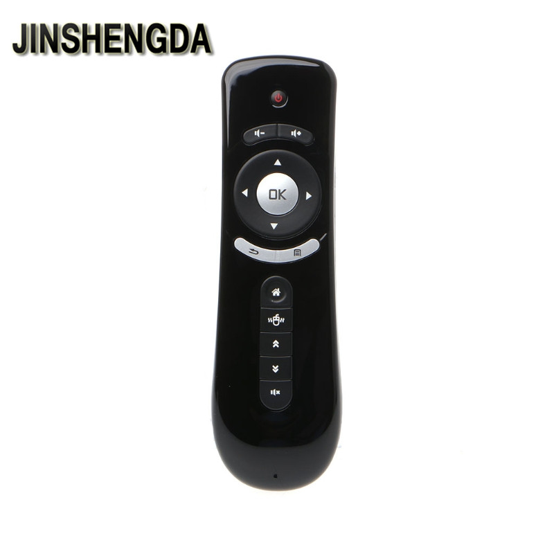 JINSHENGDA TV Remote Control T2 Fly Air Mouse 2.4G Wireless 3D Gyro Motion Stick Remote Control For PC Smart TV