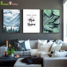 цены на Mountain Lighthouse Leaves Sea Tree Nordic Posters And Prints Wall Art Canvas Painting Wall Pictures For Living Room Unframed  в интернет-магазинах