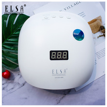 ELSA 48W Nail Dryer RU fast shipping UV Gel Curing Lamp with Bottom 30s/60s Timer LCD Display nail Lamp for Nail Lamp Dryer new nail led uv lamp dryer metal bottom lcd timer multicolors for curing uv gel t32