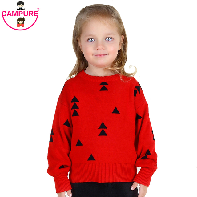 Campure Bobo Style Triangle Kids England Kit 2016 Autumn Winter 1-5Yrs Boys Girls Sweater Brand Red White Green Boys Clothes