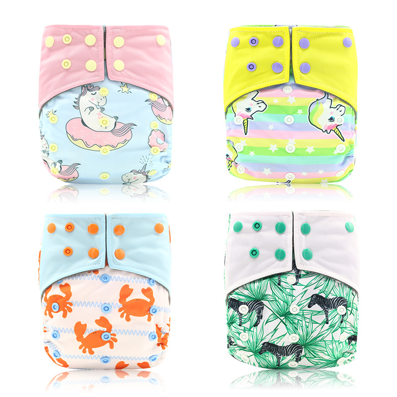 Happy Flute OS Cloth Diaper Bamboo Charcoal Pocket Diaper Christmas Baby Nappy Cloth Nappy 1 pcs Pack цена
