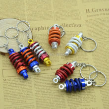 Super good quality Metal Key Chain Motorcycle Turbine Bag Car Ornaments Car Auto Tuning Parts Shock Absorber Keychain