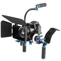 PULUZ YLG1102A B DSLR Rig Dual Handles Camera Shoulder Mount Kit with Matte Box & C Mount for DSLR Camera / Video Camera